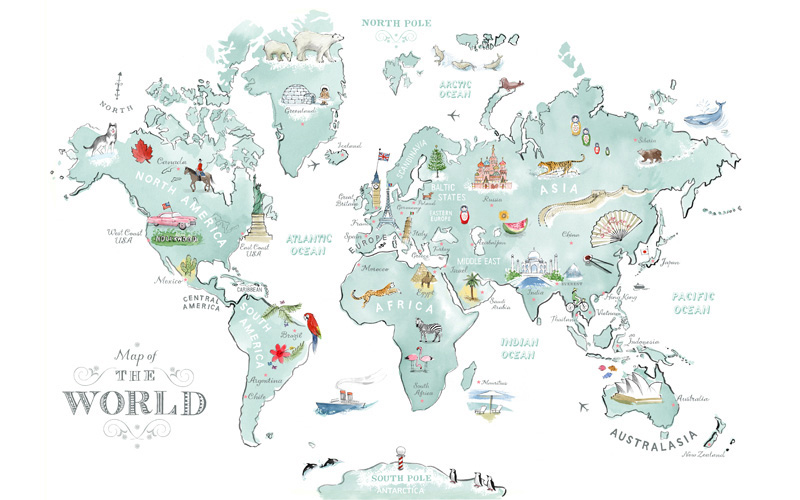 World Map Alice Tait 2012